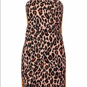 Leopard print square cut dress